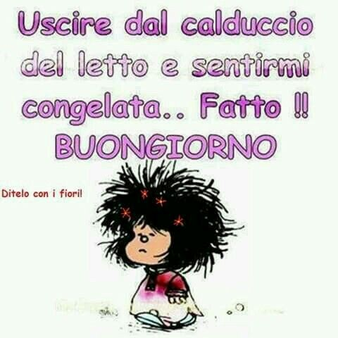 Mafalda, buongiorno
