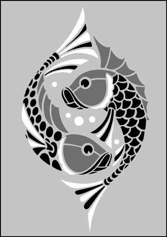 Animal and Bird Motif No 97 stencils, stensils and stencles