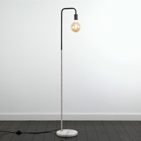 Chrome Pipe Floor Lamp