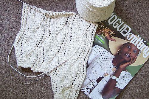 Sideways, летний кардиган с обложки Vogue Knitting