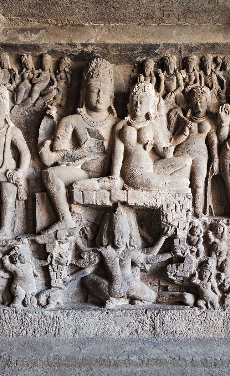 The Hindu Caves: The Hindu caves were constructed in the beginning of the 7th century and represent a different style of creative vision & execution skills. Some were of such complexity that they required several generations of planning and coordination to complete.