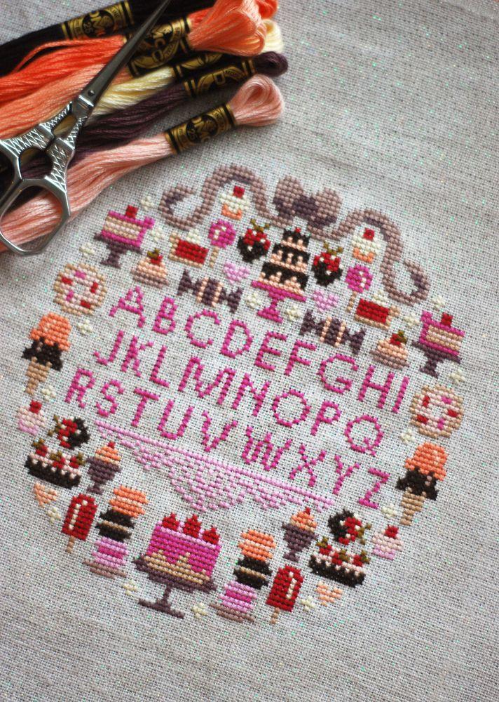 Sugar is Sweet Sampler PDF Cross Stitch Pattern - Frosted Pumpkin Stitchery