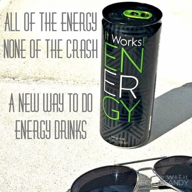 It Works! ENERGY is a fusion of natural stimulants free of the jittery effects. Pear flavored goodness with half the sugar, half the calories, but powerful enough to deliver the same drive you need - it's a powerful energy drink that helps support the body's ability to sustain natural energy levels. Energy does not contain some of the same ingredients found in other energy drinks that can wreak havoc on your body. Want more info? Email kubistawraps@gmail.com or find me on FB at Kat Kubista