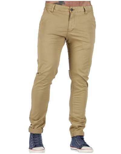 ΑΝΔΡΙΚΑ ΡΟΥΧΑ :: Παντελόνια :: Παντελονι Chino Slim Line Khaki - OEM