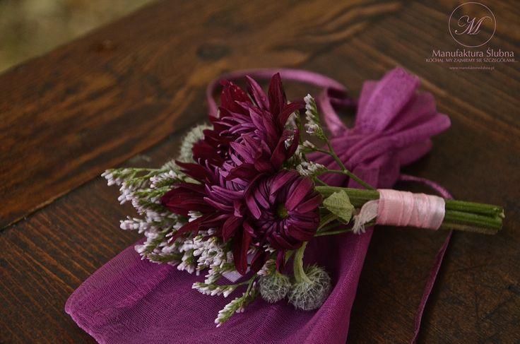 #wedding #flower #buttonhole #butonierka #idyllic #fiolet #manufakturaslubna