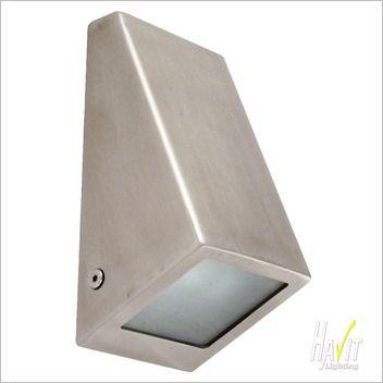 Havit Lighting 240v LED Gu10 Square Wall Wedge Light in Stainless Steel $61