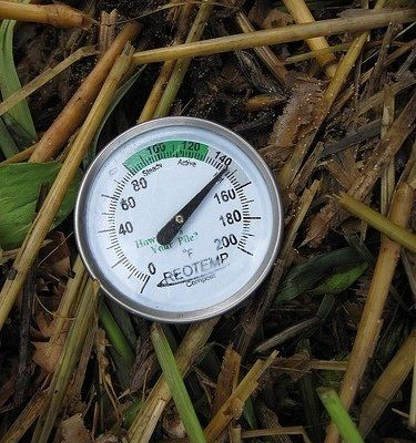 Winter composting - Compost Thermometer by    fishermansdaughter