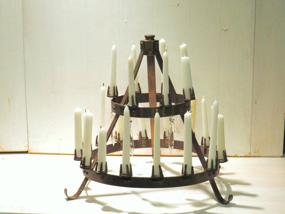 Candelabra brass mid century candle holder Gothic by ChippedPaints