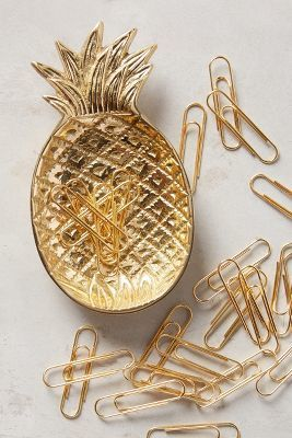 This golden pineapple trinket dish will have you thinking about tropical destinations all the time.