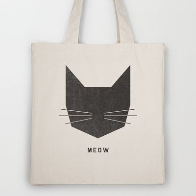 MEOW Tote Bag by Wesley Bird - $18.00