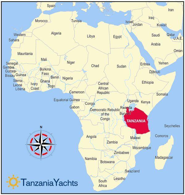 Map Of Africa Tanzania.Tanzania On World Map 71 Best Tanzania S Africa Images On Pinterest