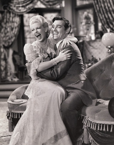 Lana Turner Laughing with Clark Gable