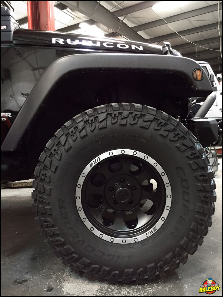 "37"" Cooper Discoverer STT Pro tires with 17"" wheels under a 2012 Jeep Wrangler Rubicon. ______________________________________________________ #Axleboy #offroad #jeep #wrangler #rubicon #4x4 #4wd #cooper #sttpro #bigtires #stl #stpeters #missouri #mechanic #jeepshop #jeeplife #jeepthing #jeeper #olllllllo"