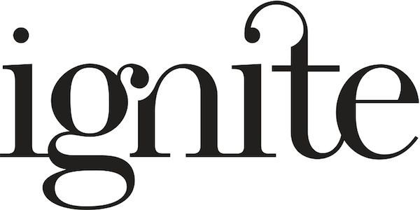 Typographic logo: Ignite