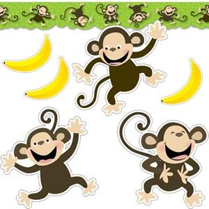 Monkey Business Bulletin Board Display Set - for those kids who like to monkey around!