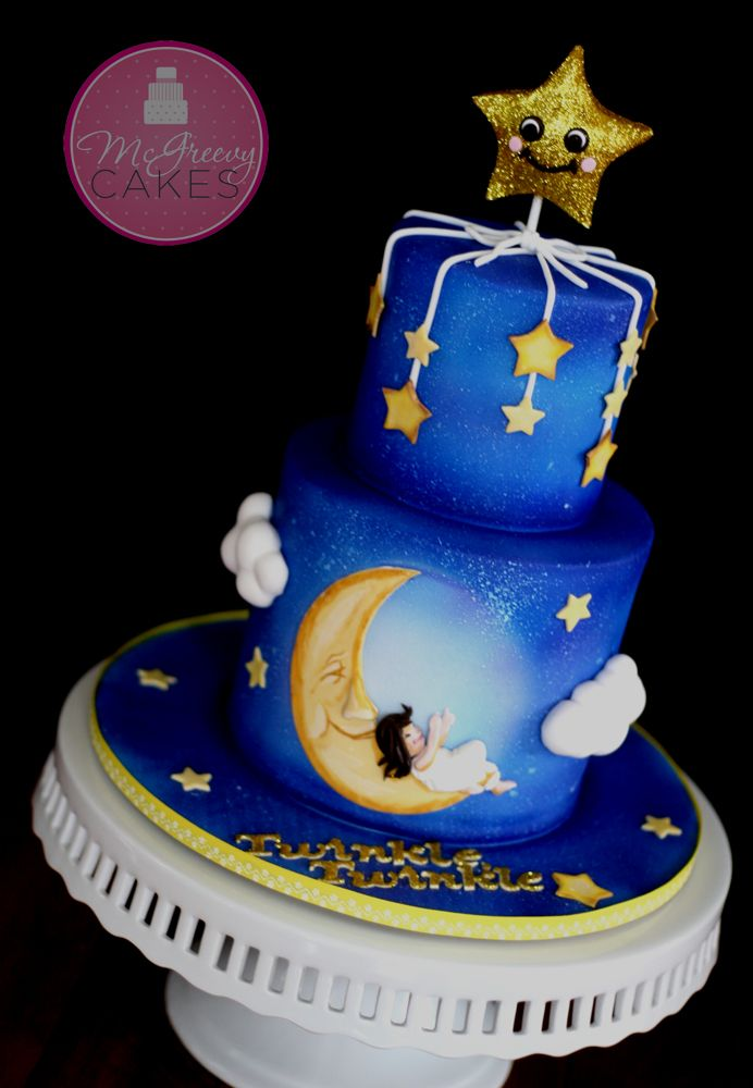 Star And Moon Birthday Cake
