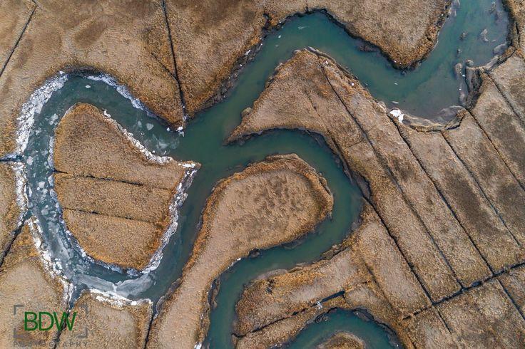 Drone photo of marsh in Ipswich Massachusetts BDW Photography
