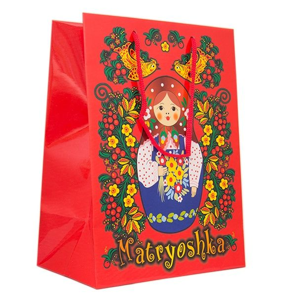 Russian style and design gift package with matryoshka doll