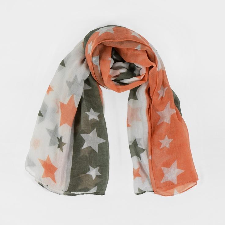Grand foulard paréo à étoiles