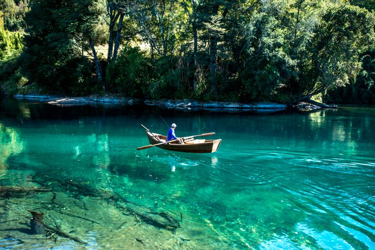 Crystal clear Liucura River in Pucon, Chile