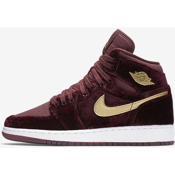 Air Jordan 1 Retro High Premium (3.5y-7y) Big Kids' Shoe. Nike.com ($140) ❤ liked on Polyvore featuring jordans, shoes and sneakers