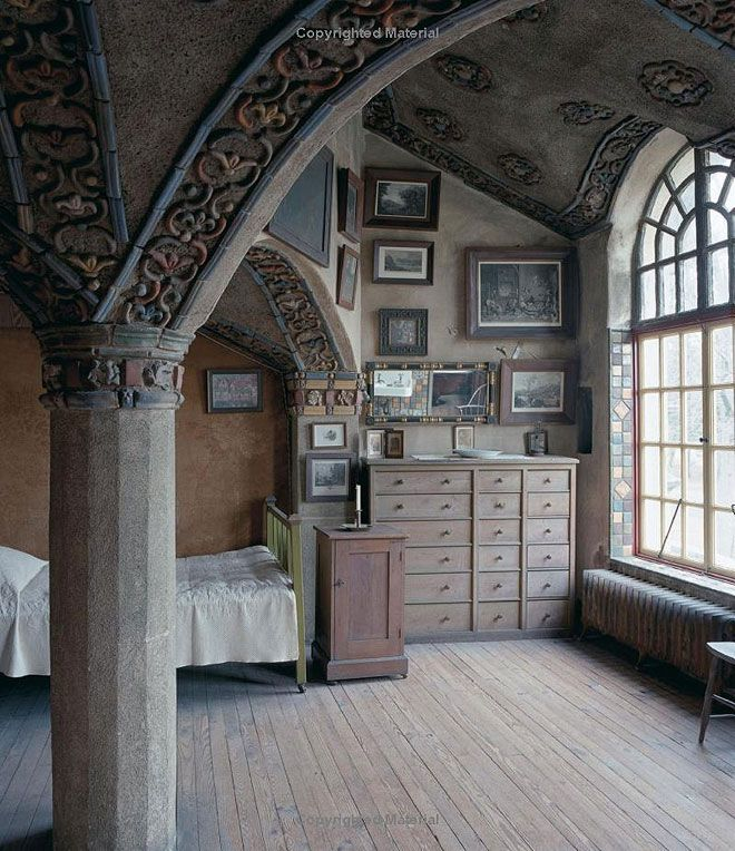I LOVE this - I am such a huge fan of arches and these interior ones are to die for!!  Artists' Handmade Houses, Photography by Don Freeman.