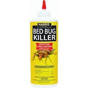 P. F. Harris Mfg. HDE-8 8 Oz. Bottle Bedbug Killer Powder by P. F. Harris Mfg.. $7.99. BED BUG POWDER 8OZ. HDE-8 BED BUG POWDER 8OZ. Diatomaceous earth powder kills bedbugs where they hide in cracks and crevices. Powder comes in an easy to use puffer bottle. Can also be used for fleas, roaches, earwigs, silverfish, and ants.