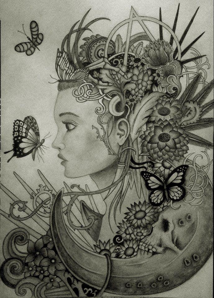 ~Christopher Lovell átdolgozás, egyszerűbb verzió :) ~Skull ~Moon ~Girl ~Flower ~Butterfly