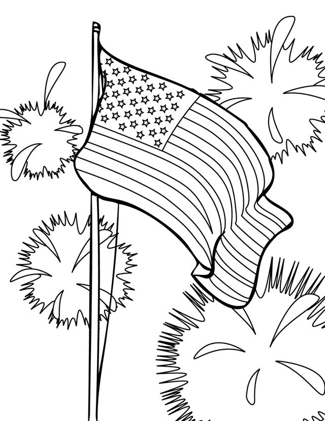 12 best 4th of july coloring images on Pinterest