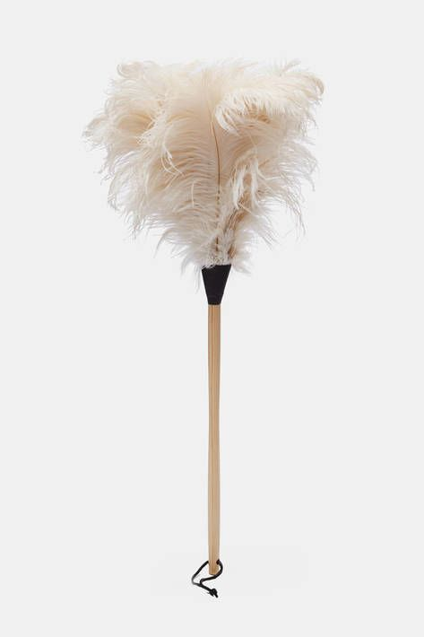 Handcrafted in Germany since 1935, Redecker brushes are both traditional and modern, combining natural materials with functional forms. This duster is made of ostrich feathers: especially soft and lightweight, they are ideal for removing dust from delicate items and from those that tend to topple easily. The varnished wood handle has a leather hanging loop for easy storage. Also available in black.