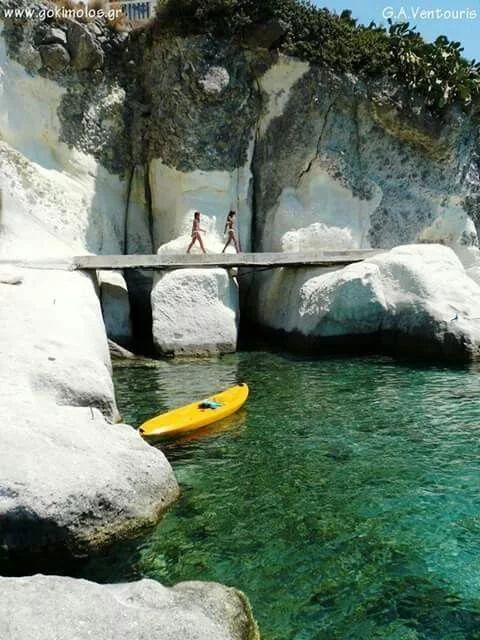 Kimolos island, Greece, Rema beach