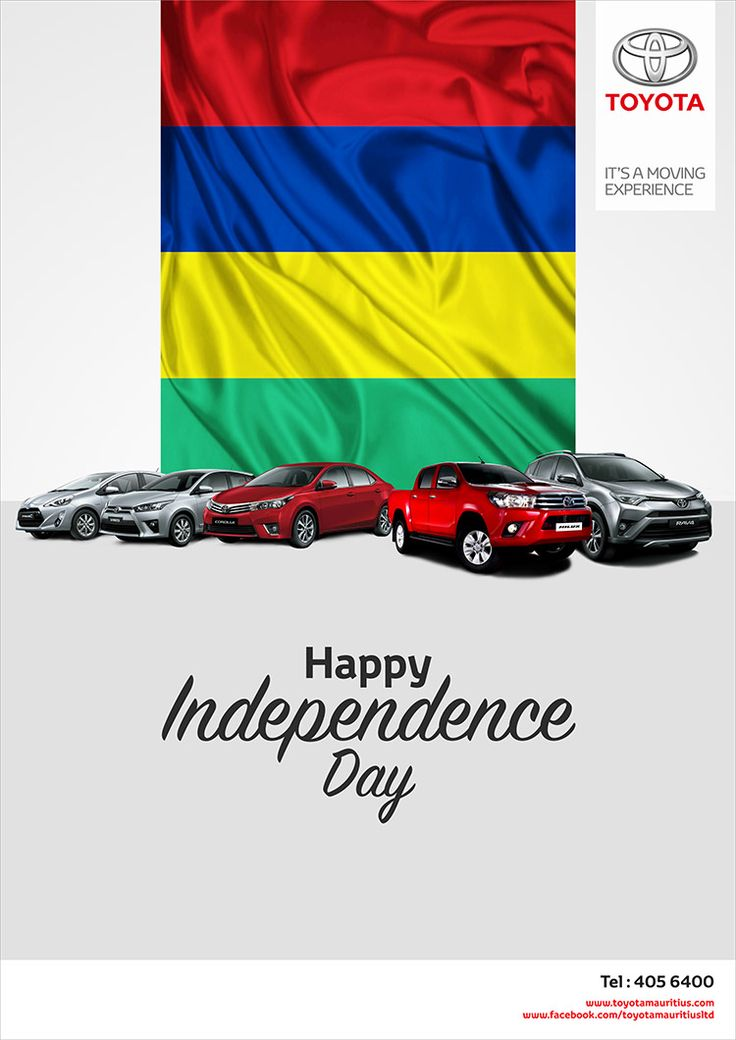 Toyota Mauritius Ltd - Happy Independence Day. Tel: 405 6400