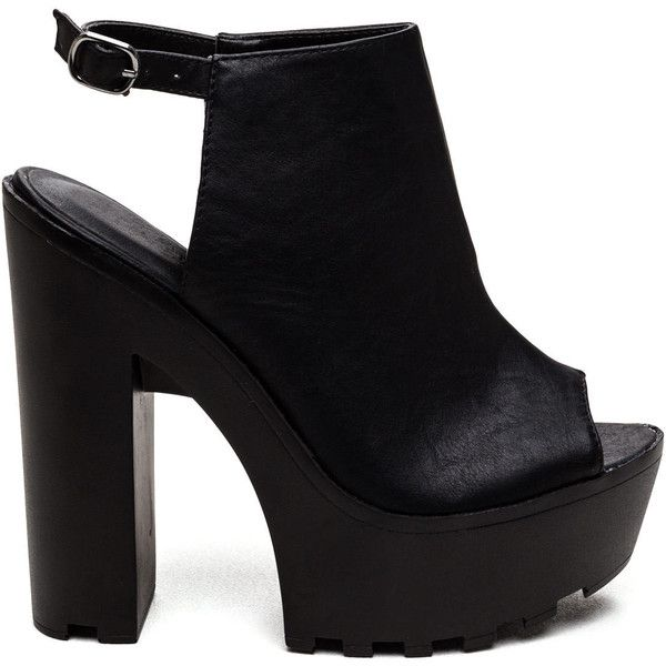 Bootie Beauty Ridged Chunky Heels (225 ARS) ❤ liked on Polyvore featuring shoes, boots, ankle booties, chunky heel bootie, bootie boots, ankle boots, short boots and chunky heel booties
