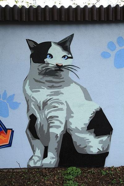 Street art: Frank Vicentz, 2012 - Tierheim Gelsenkirchen, Willy-Brandt-Allee 449 in Gelsenkirchen