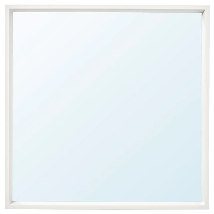 IKEA - NISSEDAL, Mirror, white, Safety film reduces damage if glass is broken. Suitable for use in most rooms, and tested and approved for bathroom use.