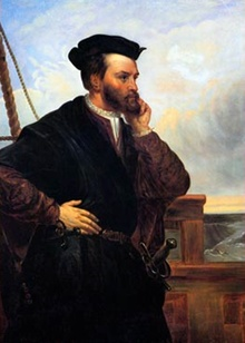 "Jacques Cartier (December 31, 1491 – September 1, 1557) was a French explorer of Breton origin who claimed what is now Canada for France.[1][2][3][4] He was the first European to describe and map[5] the Gulf of Saint Lawrence and the shores of the Saint Lawrence River, which he named ""The Country of Canadas"", after the Iroquois names for the two big settlements he saw at Stadacona (Quebec City) and at Hochelaga (Montreal Island)."