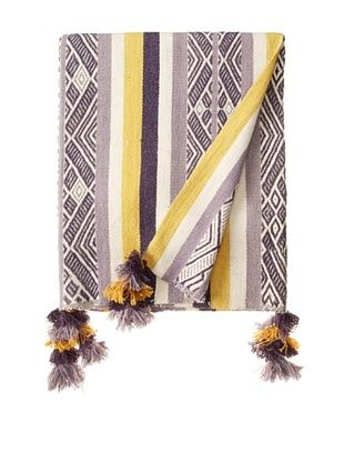 50% OFF Nomadic Thread Society Patacancha Manta/Throw, Lavender/Grey/Gold