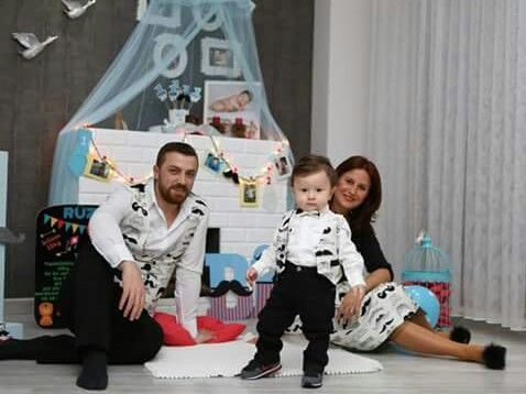Anne baba çocuk konsept kıyafetleri,  baba&oğul yelek anne etek