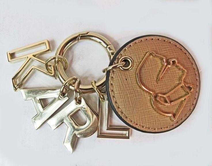 KARL LAGERFELD PARIS Gold Hinged Key Ring Letter Charms, Profile Charm NEW #KarlLagerfeldParis