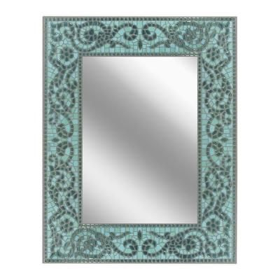 Deco Mirror 26 in. x 33 in. Sea Glass Mirror-8548 at The Home Depot
