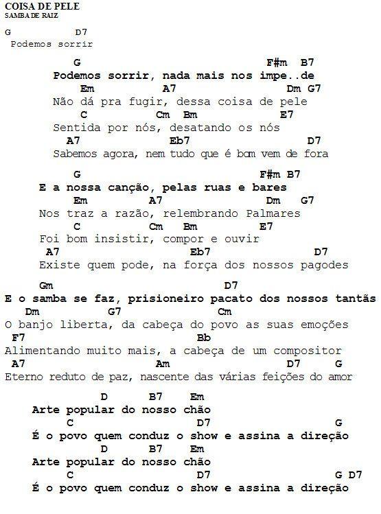 MEU CAVAQUINHO: Cifra - Coisa de Pele - Samba de Raiz
