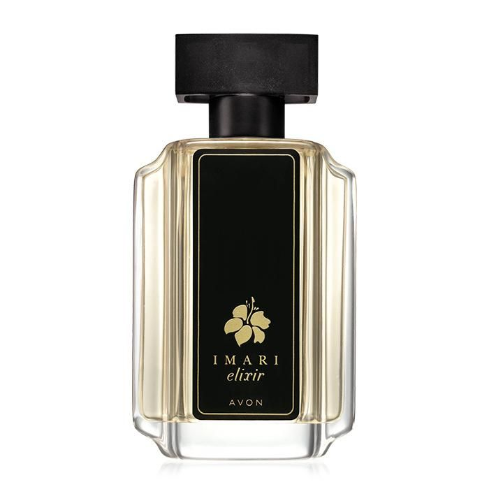 Imari Elixir Eau de Toilette Spray | Avon | Feel the intensity of passion with tempting juicy blackberry essence, seductive rose absolute and hypnotic pure vanilla extract. 1.7 fl. oz.  NOTES  • Top Notes: Sparkling Mandarin, Crisp Green Apple, Juicy Blackberry Essence • Middle Notes: Opulent Jasmine, Rose Absolute, Ylang Ylang Moheli • Base Notes: Sensual Red Amber, Hypnotic Vanilla Extract Pure, Patchouli
