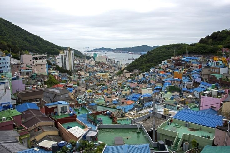 Busan, South Korea - May 5, 2017: Gamcheon Culture Village in Busan, South Korea