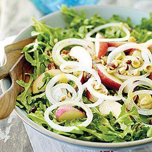Arugula Salad with White Nectarines and Mango Chutney Dressing - Best Green Salad Recipes- Sunset Mobile