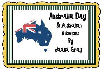 This is a fun unit for the younger students to learn all about Australia.
