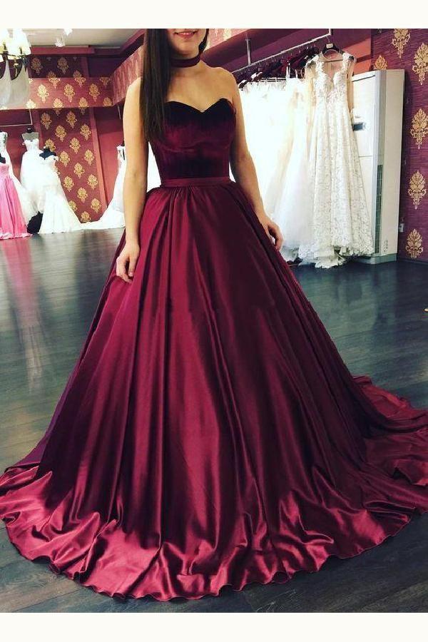 9c646e9a7fdf Hot Sale Luscious Ball Gown Prom Dress, Burgundy Prom Dress, Prom Dress  Simple, 2019 Prom Dress | Prom Dresses 2019 | 드레스, 옷, 원피스