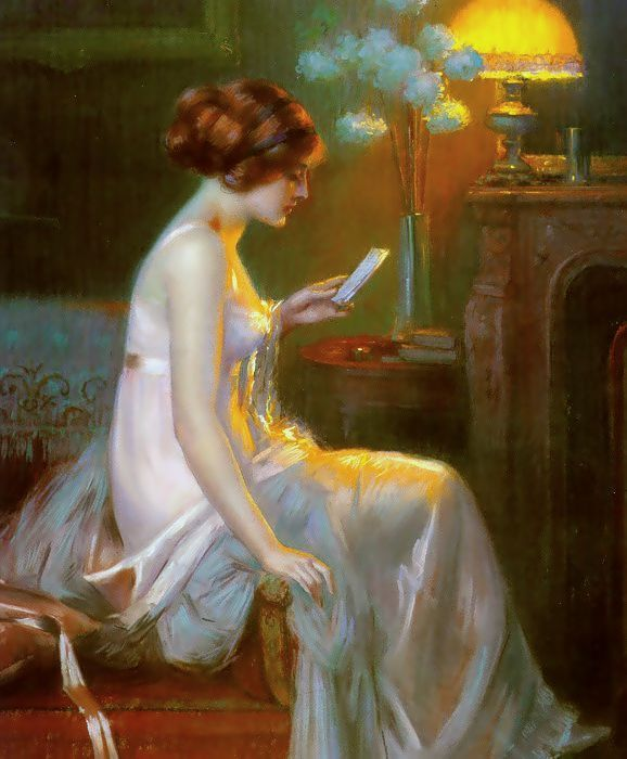 The Letter. Delphin Enjolras (French, Academic, 1857-1945).