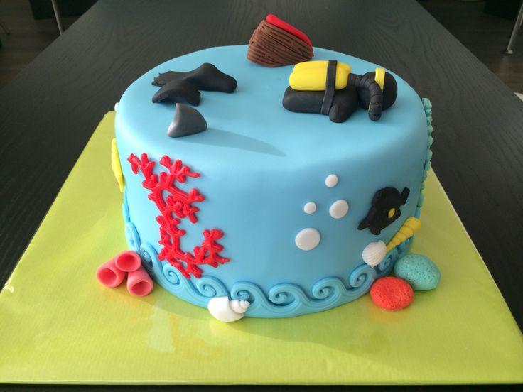 Scuba diver cake / duiktaart