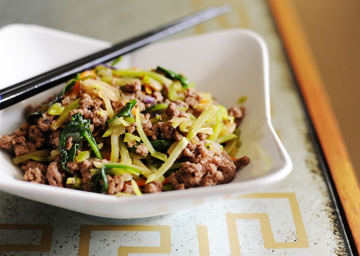 Paleo asian ground beef broccoli slaw. So easy and so good!
