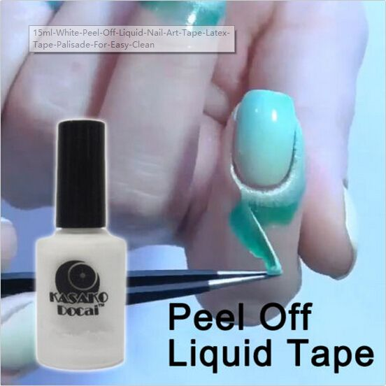 15ml White Peel Off Liquid Nail Art Tape Latex Tape Palisade For Easy Clean Base Gel Coat with Free Shipping  have discount 33.0% Off sales